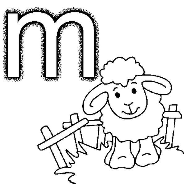 Lettre m coloriage lettre m en ligne gratuit a imprimer - Dessin lettre a ...