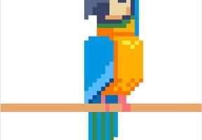 Perroquet en pixel art