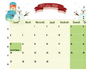 La Reine des glaces: calendrier2020