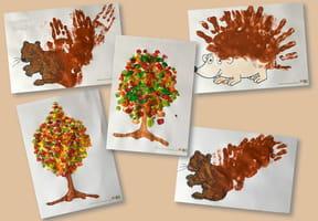 Créez des peintures d'automne avec les mains [VIDEO]