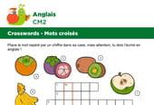 Mots croisés en Anglais sur le thème des fruits