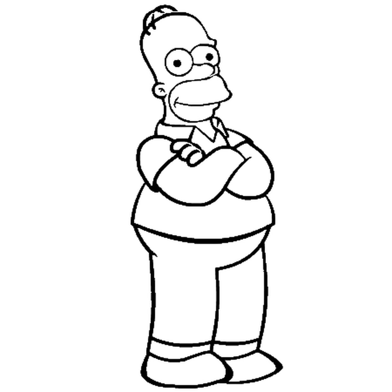 Coloriage Homer Simpson En Ligne Gratuit à Imprimer