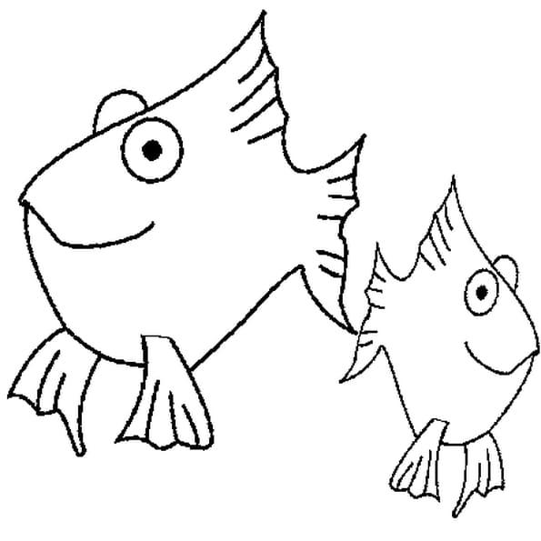 Coloriage de poissons avril en Ligne Gratuit à imprimer