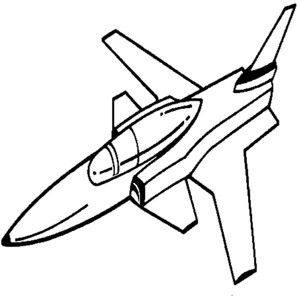 Coloriage avion de guerre en Ligne Gratuit à imprimer