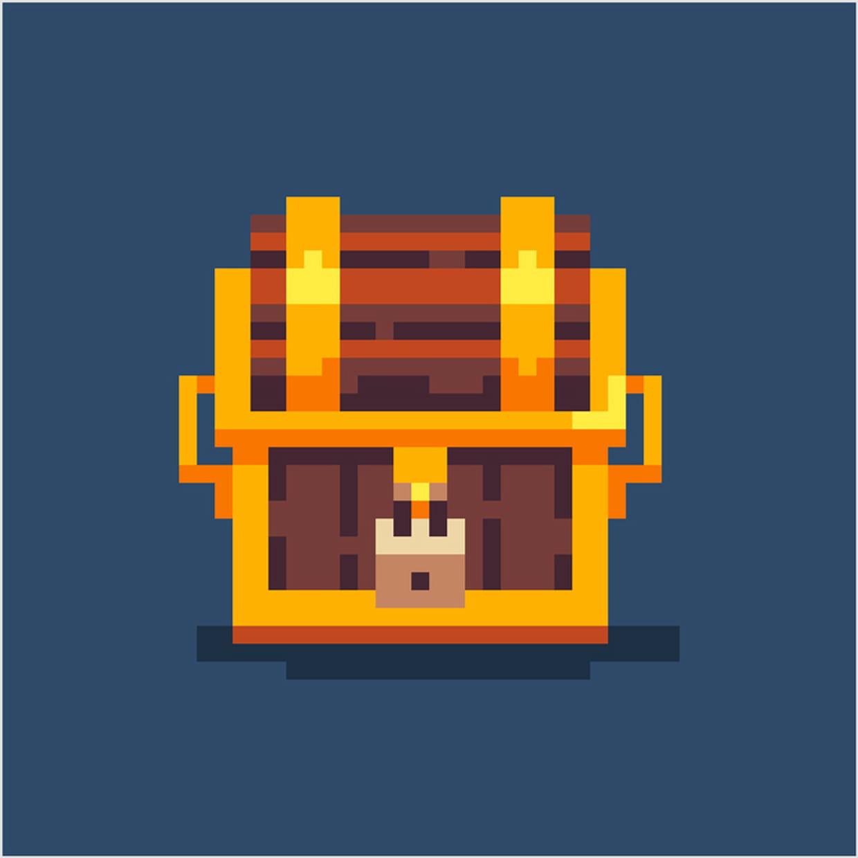 Coffre De Pirate En Pixel Art