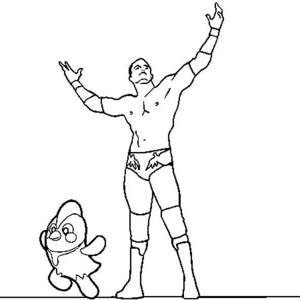 Coloriage Catch Randy Orton en Ligne Gratuit à imprimer