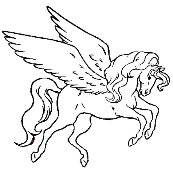 coloriage cheval volant en ligne gratuit imprimer - Coloriage De Cheval