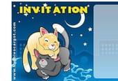 Carte invitation anniversaire chatons