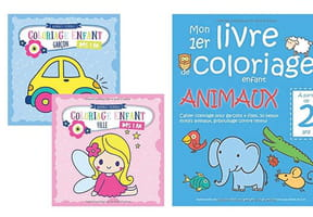 Cahiers de coloriages dès la maternelle