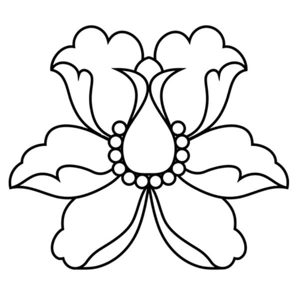 Coloriage fleur de lotus stylis e en ligne gratuit imprimer - Fleur a imprimer gratuit ...