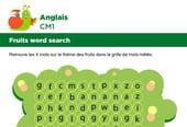 Apprendre des mots en Anglais, les fruits série 2