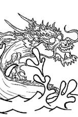 Coloriage Dragon des Mers en Ligne Gratuit à imprimer