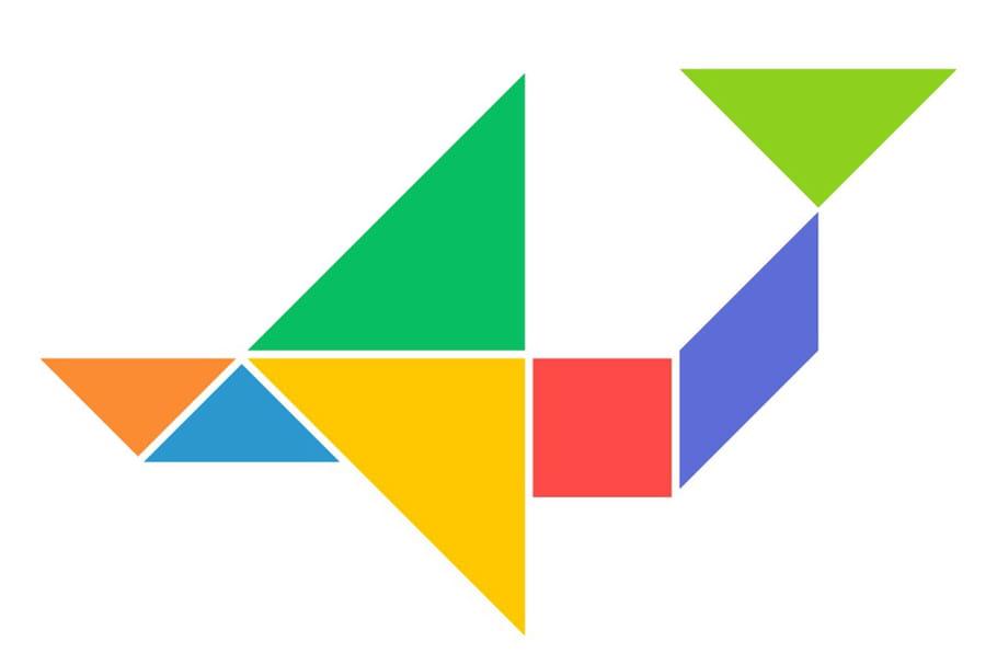 Le tangram niveau facile, un avion