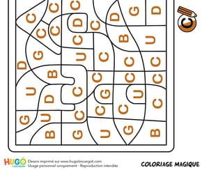 Coloriage magique CP, un château fort