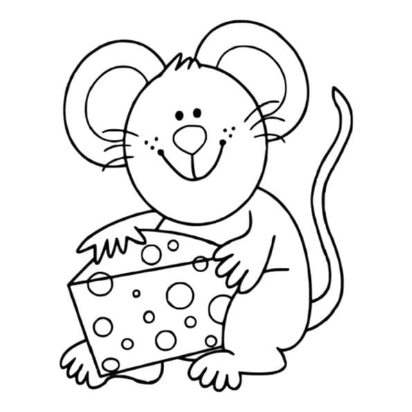 Coloriage souris et fromage en ligne gratuit imprimer - Dessin petite souris ...