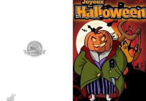 Carte joyeux Halloween Jack O' Lantern