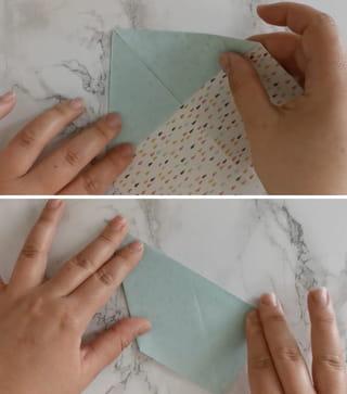 Étape 3: former deux triangles