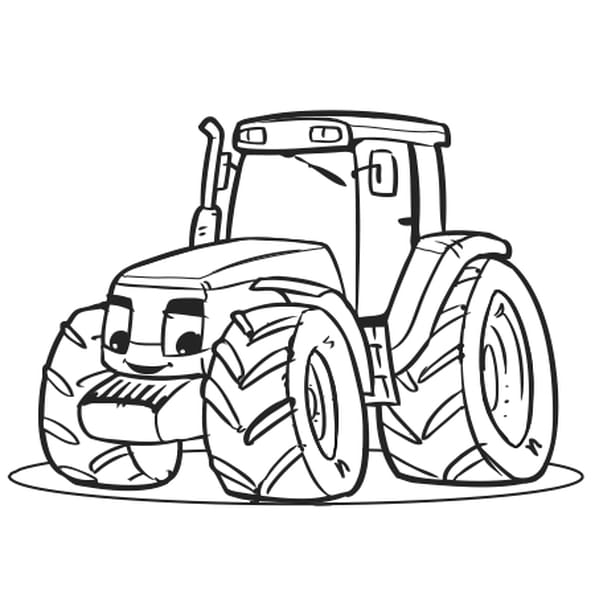 Coloriage gros tracteur en ligne gratuit imprimer - Dessin de tracteur a colorier ...