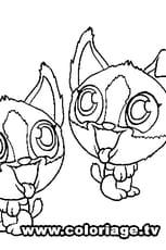 Coloriage Zooble Jumeaux en Ligne Gratuit à imprimer