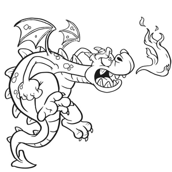 Dragon bleu coloriage dragon bleu en ligne gratuit a - Dessin dragon a imprimer ...