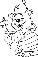 Coloriage bébé ours