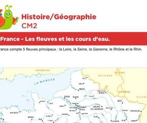 La France, les fleuves et les cours d'eau
