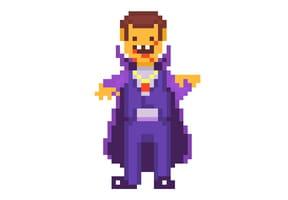 Pixel art Halloween Vampire