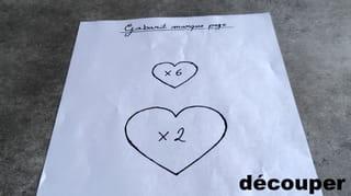 Étape 1: imprimez les gabarits des cœurs