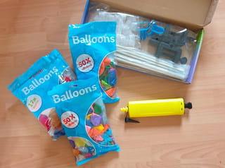 Matériel nécessaire pour une arche de ballons