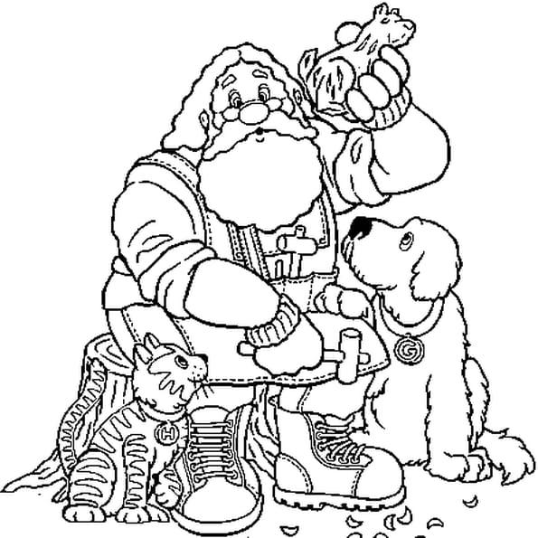 Dessin Père Noël 2 a colorier