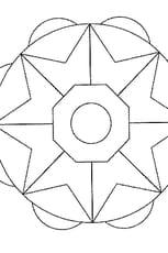 Coloriage Mandala Facile en Ligne Gratuit à imprimer