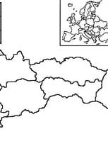 Coloriage carte Slovaquie en Ligne Gratuit à imprimer