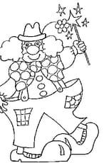 Coloriage le clown en Ligne Gratuit à imprimer