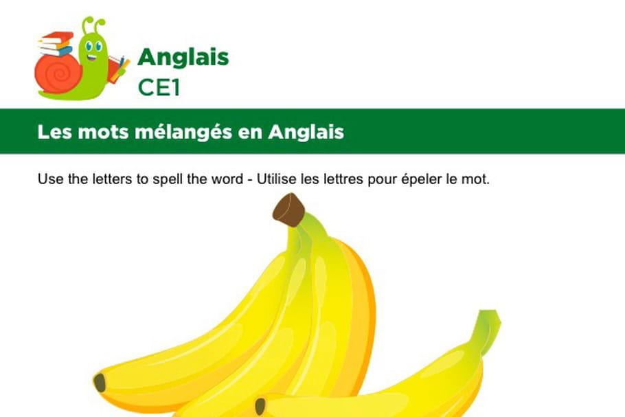 Les mots mélangés en Anglais, exercice 3