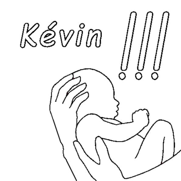 Dessin Kévin a colorier