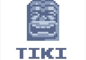 Tiki en pierre en pixel art