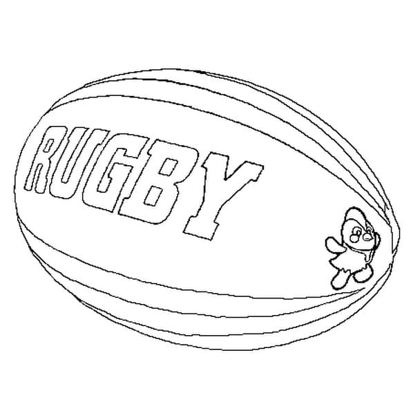 ballon de rugby coloriage