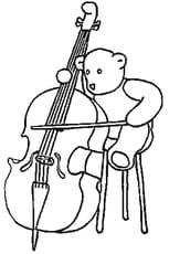 Coloriage violoncelle en Ligne Gratuit à imprimer
