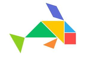 Le tangram niveau facile, une baleine