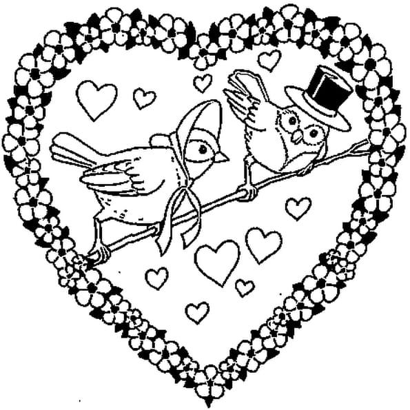 Coloriage d un coeur en Ligne Gratuit à imprimer