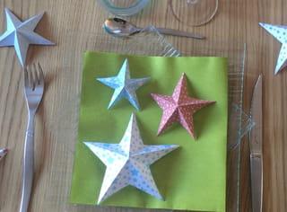 Origami étoile en papier - Étape 6