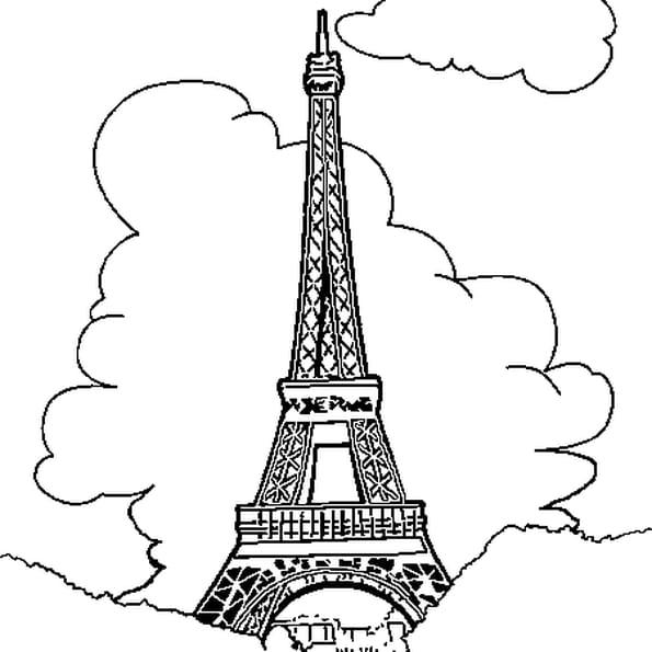 Coloriage A Imprimer Tour Eiffel.Coloriage Tour Eiffel En Ligne Gratuit A Imprimer