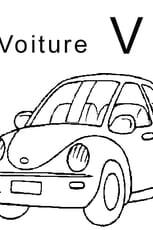 Coloriage lettre V comme voiture en Ligne Gratuit à imprimer