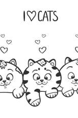 Coloriage J'aime les chats