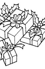 Coloriage cadeau noël en Ligne Gratuit à imprimer