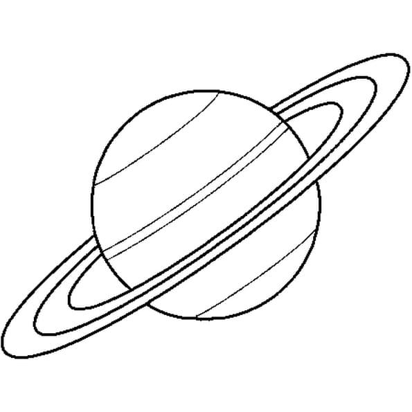 Coloriage Saturne en Ligne Gratuit à imprimer