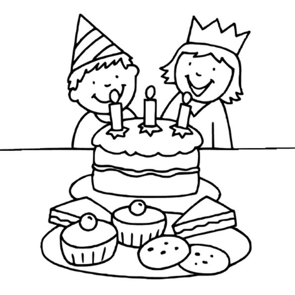G teau d 39 anniversaire avec 3 bougies coloriage g teau d - Dessin sur gateau anniversaire ...