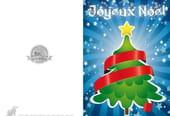 Carte sapin de Noël