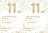 Carte d'invitation d'anniversaire 11ans