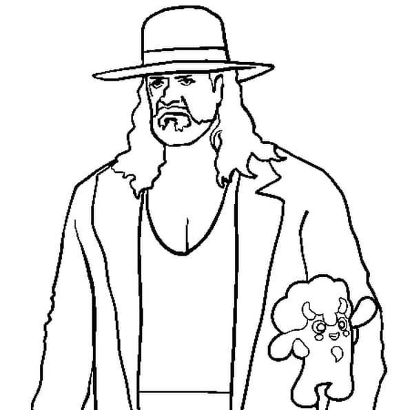 Dessin Undertaker a colorier